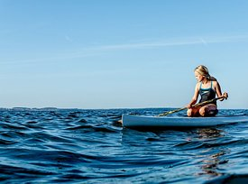 Standup paddle surfing on Mors, Denmark 8