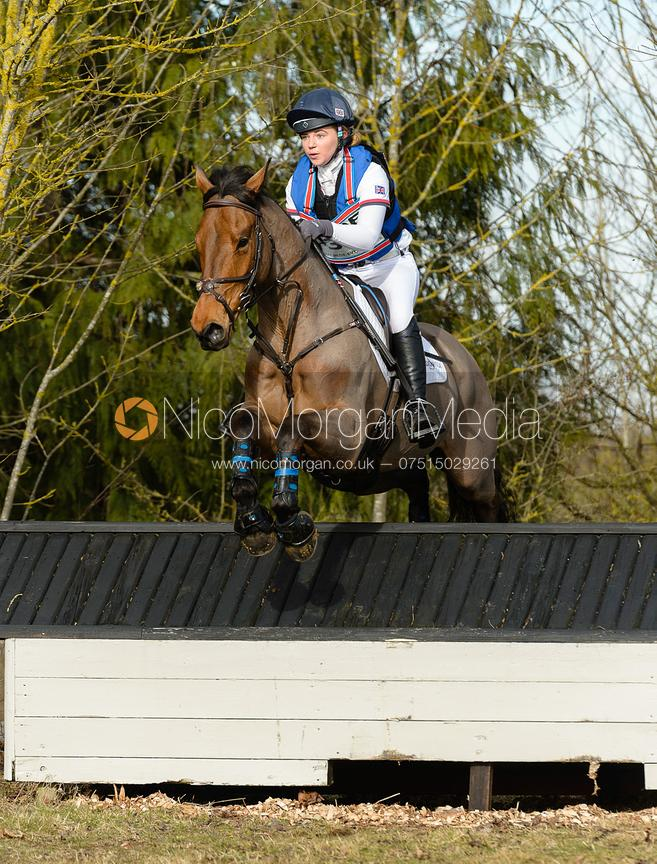 Phoebe Locke and ARDEO FUN SIZE - Intermediate Sections - Oasby Horse Trials, March 2018.