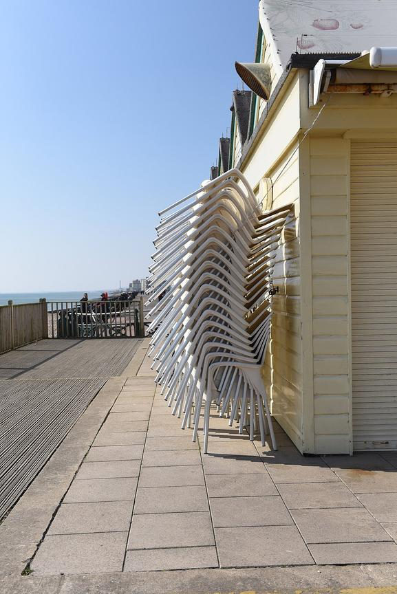 Coronavirus Brighton Seafront...Residence of Brighton & Hove practice social distancing on Hove Seafront...Picture: Liz Pearc...