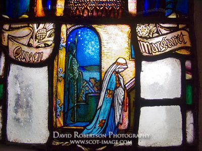 Image - Stained Glass Window, St Margaret's Chapel, Edinburgh Castle