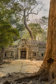 Entrance to Ta Phrom temple within Angkor templex complex in Siem Reao, Cambodia.