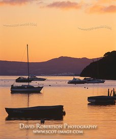 Image - Loch Lomond at Balmaha boatyard at sunset