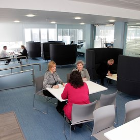 Dumbarton, Scotland..7.3.14.Refurbished offices at West Dunbartonshire Council...Free Use for Scottish Futures Trust.More inf...