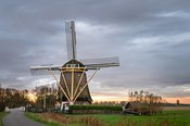 Broekzijder windmill in morning light