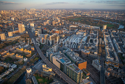 Paddington, London, aerial view.