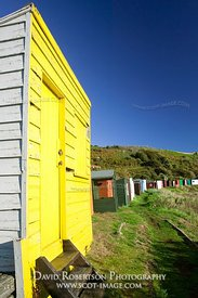 Image - Beach huts, Coldingham Bay, Scottish Borders, Scotland