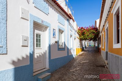 Colorful houses in Ferragudo, Faro, Algarve, Portugal