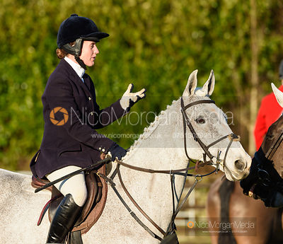 Chloe Jonason at the meet. The Quorn Hunt at Fox Covert Farm 10/1
