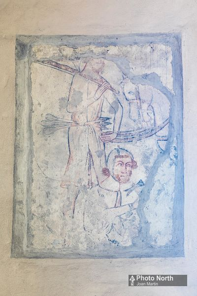 WENSLEY 07A - Medieval wall painting, Holy Trinity Church