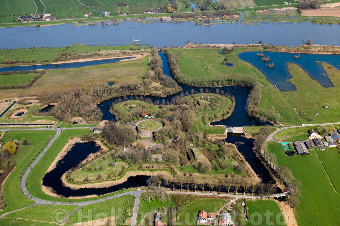 Everdingen - Luchtfoto - Fort Everdingen