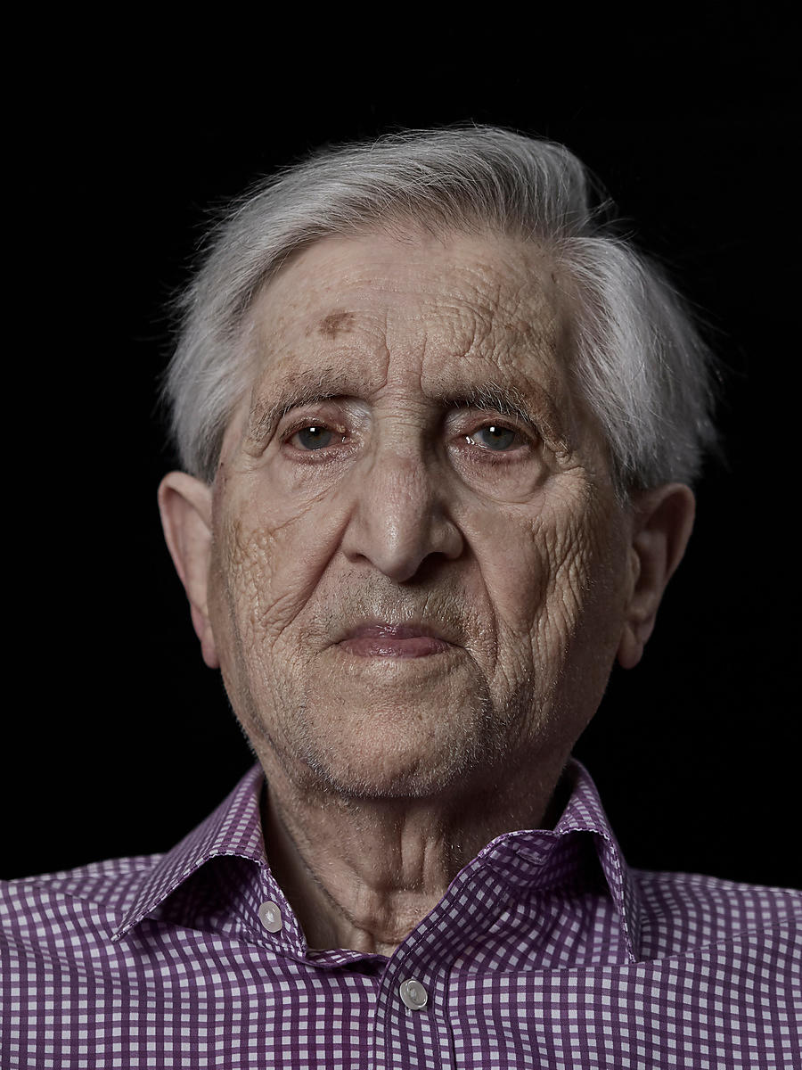 Maurice Podro, one of the last surviving members of the 43 Group. London, UK