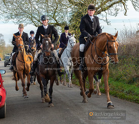 Alex Tordoff, Nick Townsend on Owston Road - The Cottesmore Hunt at Owston 19/11