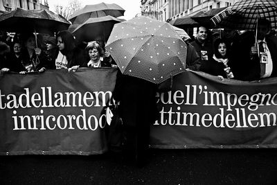 The annual demonstration to remember innocent mafia victims organized by Association Libera.