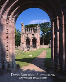 Image - Dryburgh Abbey, West Door, Borders, Scotland