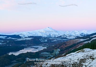 Image - Ben Lomond, Loch Ard, Trossachs, Winter, snow