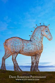 Image - The Heavy Horse sculpture, Easterhouse, Glasgow, Scotland.