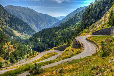Winding Road in Pyrenees Mountains