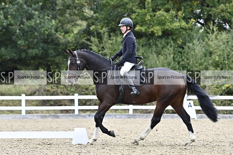 Stapleford Abbotts. United Kingdom. 10 October 2020. Unaffiliated dressage. MANDATORY Credit Garry Bowden/Sport in Pictures -...