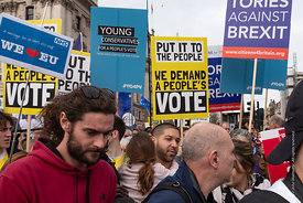 #124569,  Anti-Brexit march to Parliament Square, London, 23rd March 2019.  A million people of all ages marched demanding a ...