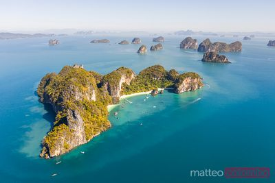Aerial view of Hong island, Krabi province, Thailand