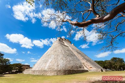 Pyramid of the magician, Uxmal, Yucatan, Mexico