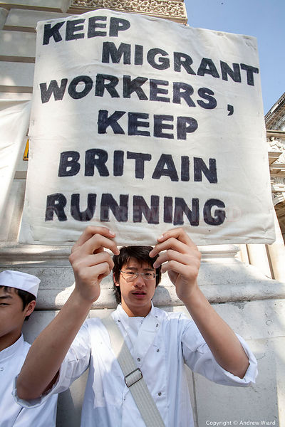 England , UK . 16.6.2006 .London. Legal Chinese immigrants,  Work Permit ( WP ) and Highly Skilled Migrant Programme ( HSMP )...
