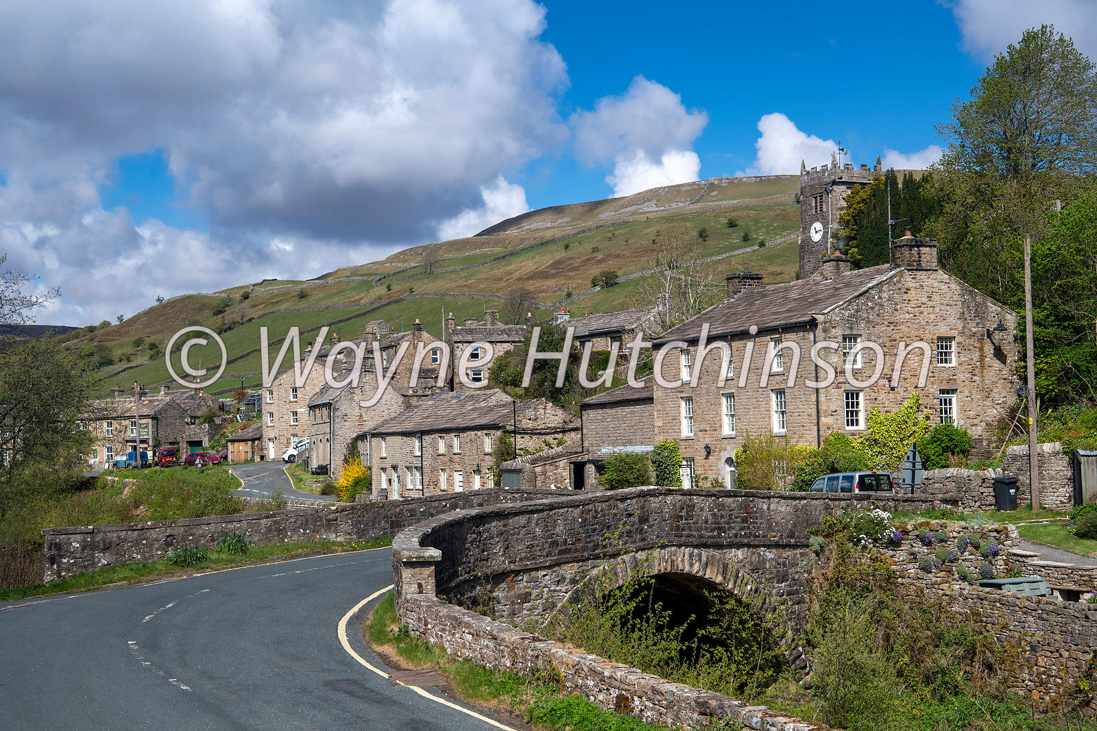 Village of Muker in Swaledale, on a spring day. Yorkshire Dales National Park, UK.