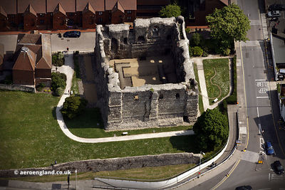 Canterbury Castle aerial photograph
