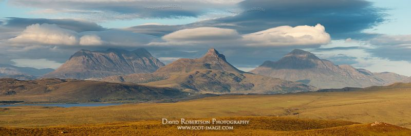 Image - Mountains of Inverpolly Panoramic, Scotland, Stac Pollaidh