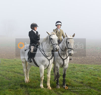 Alice Robb, Frankie Wyatt at the meet - The Cottesmore Hunt at Withcote 30/11