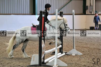 Unaffiliated showjumping. Brook Farm Training Centre. Essex. UK. 17/03/2019. ~ MANDATORY Credit Garry Bowden/Sportinpictures ...
