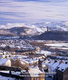 Image - Stirling rooftop cityscape, winter, snow