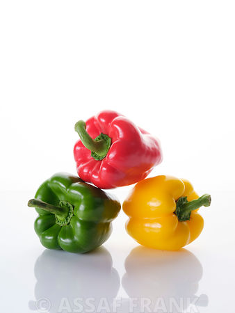 Multicoloured bell peppers
