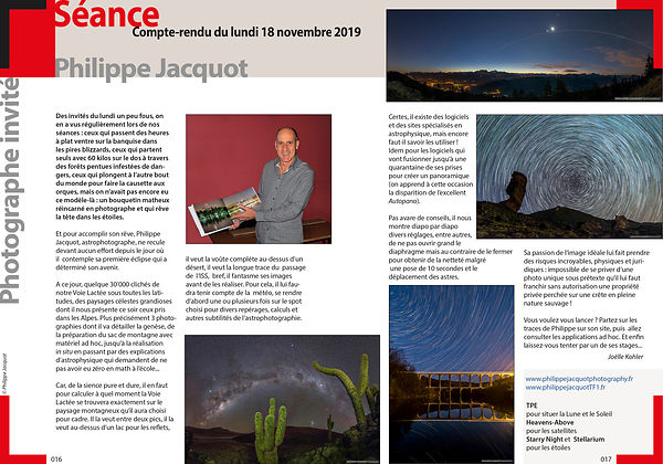 PHOTO MAGAZINE - Société Genevoise de Photographie - December 2019