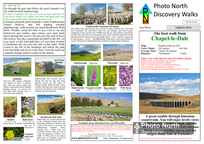 Chapel-le-Dale walk download - Two page PDF file