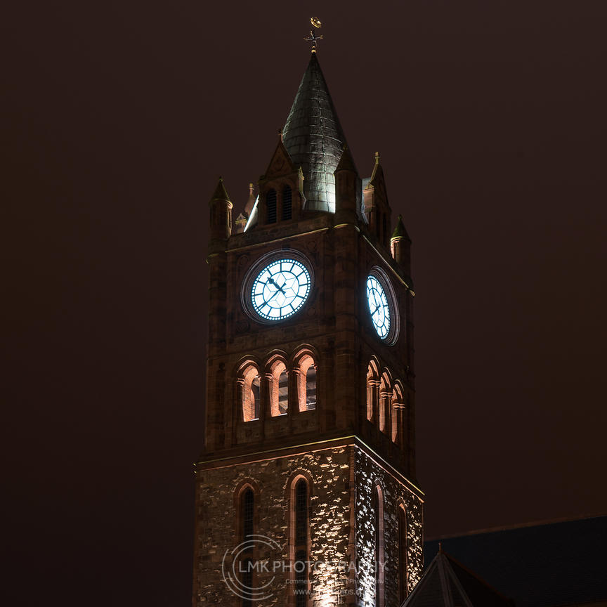 Guildhall Clock At Night