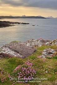 Image - View from Stoer Peninsular to the mountains of Assynt, Sutherland, Highland, Scotland. LtoR, Canisp, Suilven, Cul Bea...