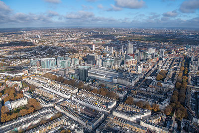 Aerial view of Paddington, Paddington Station, Paddington central, London.