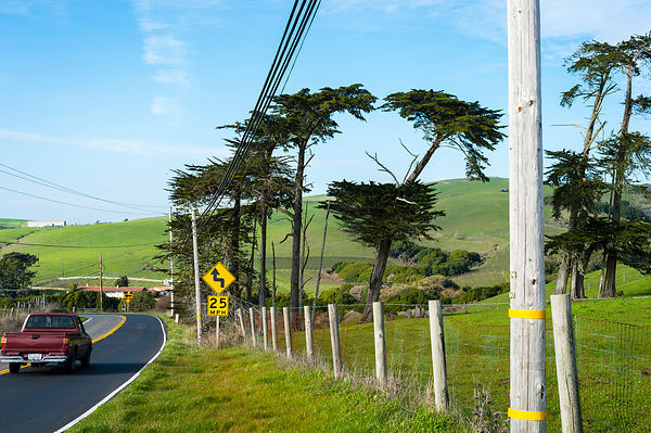 Highway One, Californie, USA.