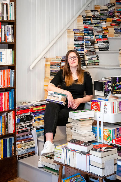 Portrait of Bryony, founder of Bees Bookshare, Margate
