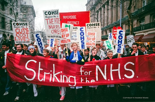 NURSES AND NHS WORKERS CAMPAIGN AND STRIKE, MARCH 1988