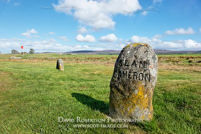 Image - Jacobite gravestone of Clan Cameron on the Culloden battlefield