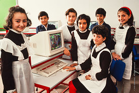 #4718,  The Computer lab, block C, The Lord Byron School, Leninakan (now Gyumri), Armenia.  At 11.41am on the 7th December 19...