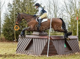 Katie Barber and DAYTONA DREAMER - Oasby Horse Trials, March 2018.