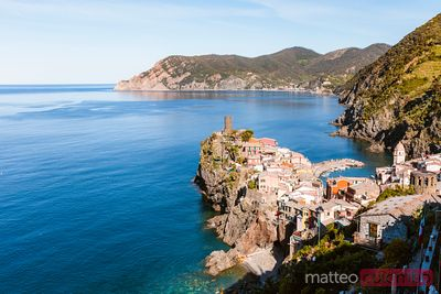 Cinque Terre and blue sea, Liguria, Italy