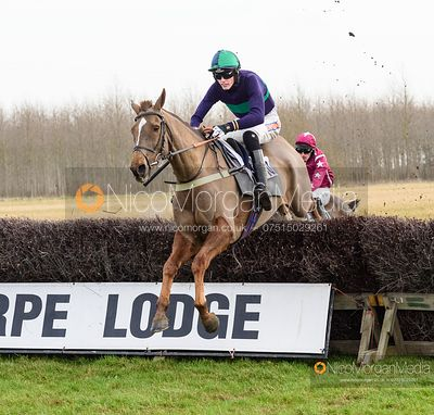 Jack Andrews and VOLNAY DE THAIX - Race 1 - Conditions - The Midlands Area Club at Thorpe Lodge 26/1