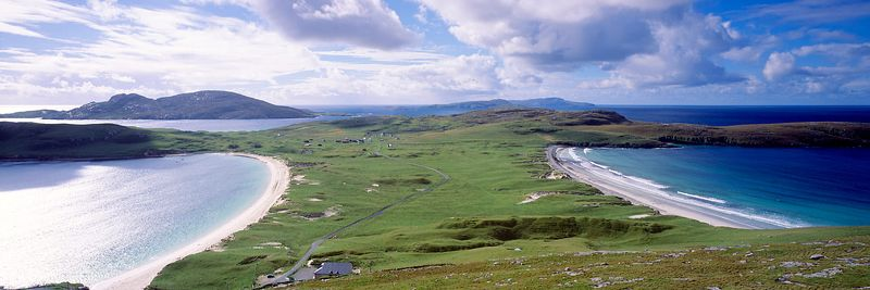 Image - Isthmus on the Isle of Vatersay, Na h-Eileanan Siar, Scotland