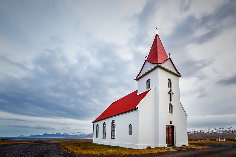 Iceland | Wall art | Hellissandur Church