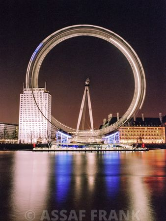 London Eye Millennium Wheel Night