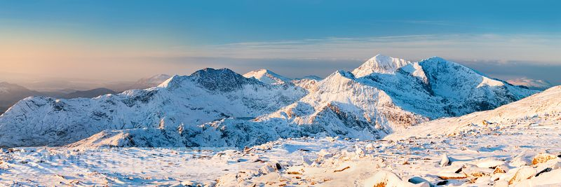 The Snowdon Massif in winter - BP2792C